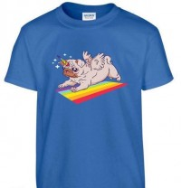 Kids Unicorn Pug T Shirt (Available in 4 colours)