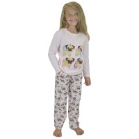 Cute Pug Girls Pj Set