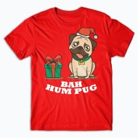 Funny Unisex Pug Christmas T Shirt