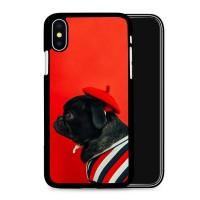 French Black Pug iPhone Cover
