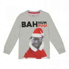 Cute Kids Black Pug Christmas Sweater