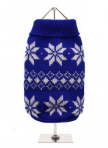 URBAN PUP BLUE SNOWFLAKE SWEATER