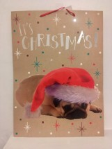 Extra Large Pug Christmas Gift Bag