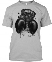 Grey Boxer Pug Unisex T Shirt