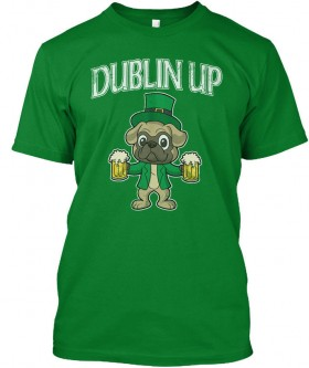 Dublin Pug Unisex T Shirt (Available in 2 colours)