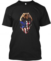USA Flag Pug Unisex T Shirt