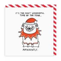 Funny Pug Christmas Card By Gemma Correll