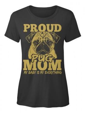 Cute Ladies Pug T Shirt
