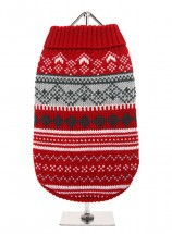 URBAN PUP RED FAIR ISLE SWEATER