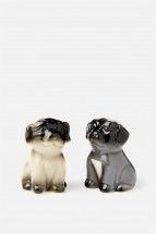 Cute Pug Salt & Pepper Shaker Set