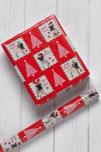 Pug Christmas 5m Gift Wrap Roll