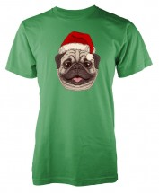 Santa Pug Unisex T Shirt (Available in 11 colours)