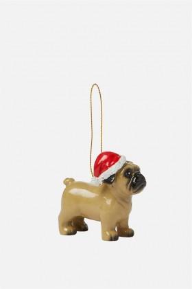 Fawn Pug Christmas Decoration