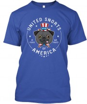 USA Pug Unisex T Shirt (Available in 2 colours)