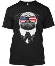 USA Pug Unisex T Shirt