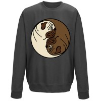 Yin Yang Pug Sweater (Available in 9 colours)