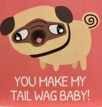 Funny Blank Pug Card