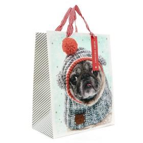 Medium Pug Christmas Gift Bag