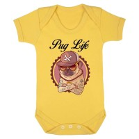 Pug Life Baby Vest (Available in 13 colours)