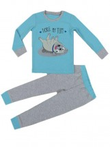 Cute Pug Kids Pj Set