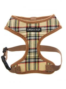 Urban Pup Beige Tartan Harness