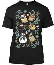 Funny Pug Unisex Christmas T Shirt