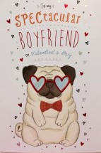 Large Boyfriend Pug Valentines Day Card