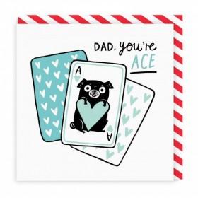 Cute Dad Blank Card By Gemma Correll