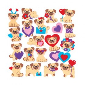Pug Foam Stickers (Packs of 10)