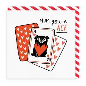 Cute Pug Mum Blank Card By Gemma Correll