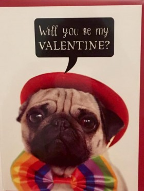 Cute Valentines Pug Card
