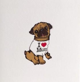 Cute I Love Mum Card