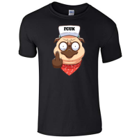 Funny Unisex Pug T Shirt (Available in 2 colours)