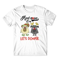 Kids Pug Red Nose T Shirt