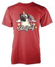 Unisex Pug Unicorn T Shirt (Available in 11 colours)
