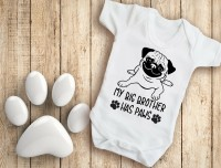 My Big Brother Has Paws Unisex Baby Vest