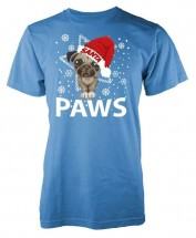 Cute Unisex Pug Christmas T Shirt (Available in 11 colours)