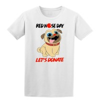 Kids Red Nose Charity Pug T Shirt
