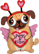 Cute Pug 36 Inch Pugs & Kisses Balloon