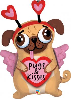 Cute Pug 36 Inch Pugs & Kisses Balloon