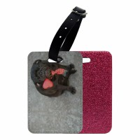 Black Pug Luggage Tag (Available in 3 colours)