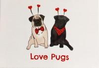 Love Pug Blank Card