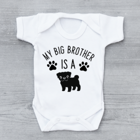 My Big Brother Is A Pug Baby Vest (Available in sizes newborn-24 months )