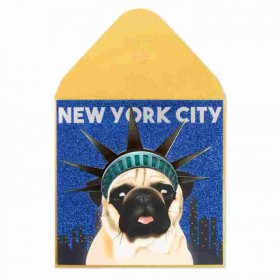 New York City Pug Blank Card