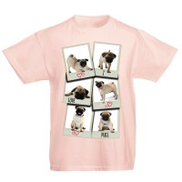 Unisex Kid's Pug T Shirt (Available in 11 colours)