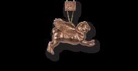 Stunning Bronze Pug Christmas Decoration