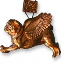 Stunning Bronze Pug Christmas Decoration