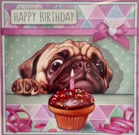 Luxury Pug Birthday Card