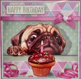 Luxury Pug Birthday Card