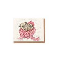 Miniture Cute Pug Blank Card